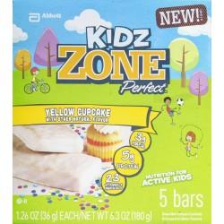 Zone Perfect Kidz Yellow Cupcake Bars, 5 ct