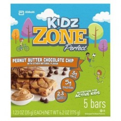 Kidz Zone Chocolate Chip Peanut Butter Cupcake 5 Bars