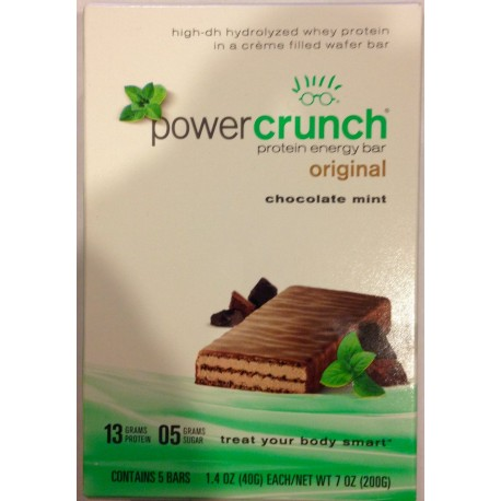 Power Crunch Original Chocolate Mint, 5 Count Box