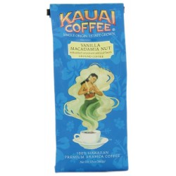 Kauai Coffee, Vanilla Macadamia Nut, Ground Coffee, 10 oz Bag (Pack of 2)