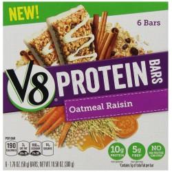 Campbell's V8 Protein Bars, Oatmeal Raisin, 1.76 Ounce