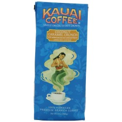 Kauai Coffee, Coconut Caramel Crunch, Ground Coffee, 10 oz Bag (Pack of 2)