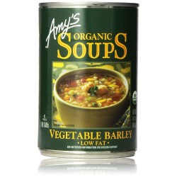 Amy's Organic Soups, Low Fat Vegetable Barley, 14.1 Ounce