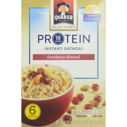 Quaker Instant Oatmeal, Protein Cranberry Almond, 2.18 Oz