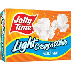 Jolly Time Crispy 'n White Light Natural Microwave Popcorn, 3-Count Boxes, 9 oz