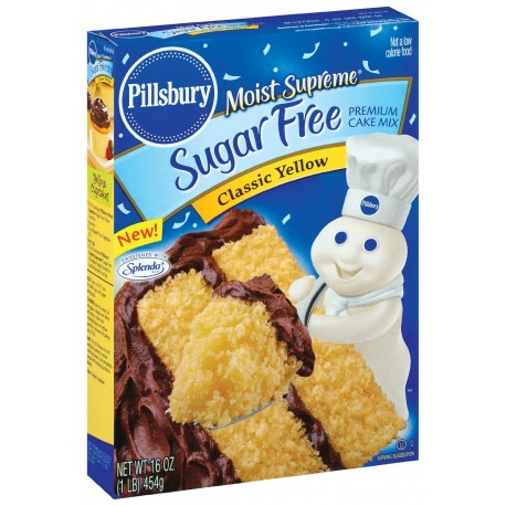 Pillsbury Sugar Free Yellow Cake Mix, 16  OZ