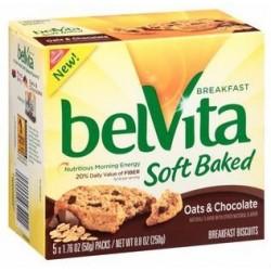 Nabisco, Belvita, Oats & Chocolate Soft Baked Breakfast Biscuits, 8.8 OZ