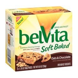Nabisco, Belvita, Oats & Chocolate Soft Baked Breakfast Biscuits, 8.8- OZ