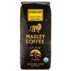 Marley Coffee, Organic Lively Up! Espresso Whole Bean Coffee, 8 Ounce
