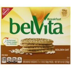 belVita Breakfast Biscuits, Golden Oat Breakfast Biscuits, 9 oz