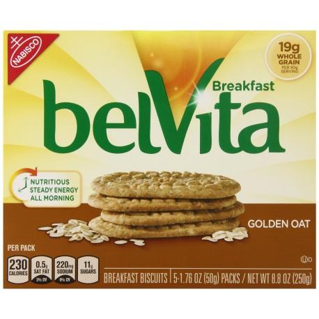 belVita Breakfast Biscuits, Golden Oat Breakfast Biscuits, 9 oz