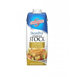 Swanson Unsalted Chicken Cooking Stock, 26 Ounce Cartons