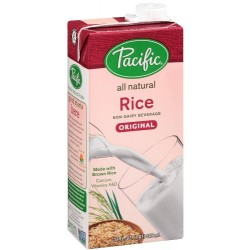 Pacific Natural Foods Rice Non-Dairy Beverage, Plain, 32-Ounce Containers