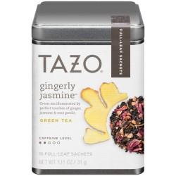 Tazo Gingerly Jasmine Green Tea 1.11 Oz. Tin (Pack of 2)