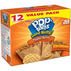 Pop Tarts Gone Nutty! Peanut Butter Flavor Toaster Pastries