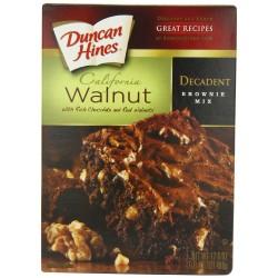 Duncan Hines Brownie Mix, Walnut, 17.6-Ounce Boxes
