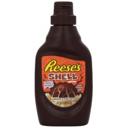 Reese's Shell Topping, Chocolate and Peanut Butter, 7.25-Ounce Bottles