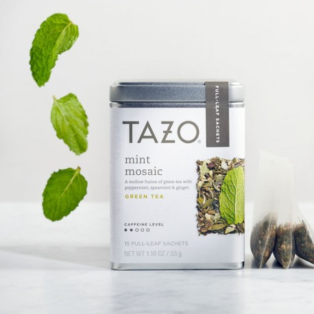 Tazo Mint Mosaic Full Leaf Tea Starbucks Green Tea (Pack of 2)