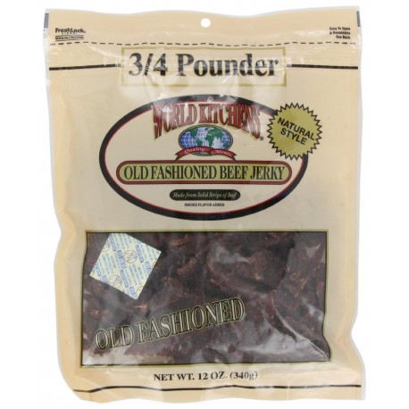 World Kitchens Old Fashioned Beef Jerky, 10 OZ