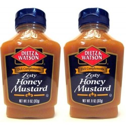 Dietz & Watson, Deli Compliments, Zesty Honey Mustard, 11 OZ Bottle (Pack of 2)