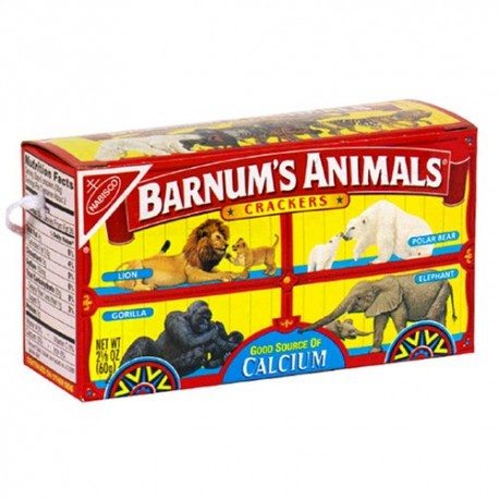 Barnum's Animal Crackers, 2.125-Ounce Boxes