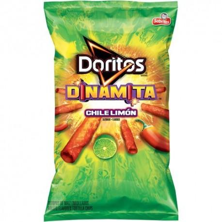 Doritos Dinamita Chile Limon Flavor Rolled Tortilla Chips, 9.25 OZ