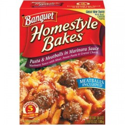 Banquet Home Style Bakes Pasta and Meatballs In Marinara Sauce 36.6 OZ