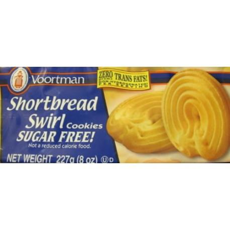 Voortman's Sugar Free Shortbread Swirl Cookies 8 Oz. Pkg.