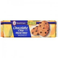 VOORTMAN SUGAR FREE COOKIES CHOCOLATE CHIP 8 OZ