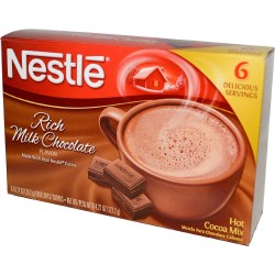 Nestle, Rich Milk Chocolate Hot Cocoa Mix, 6 Serving, 6 oz Box (Pack of 4)