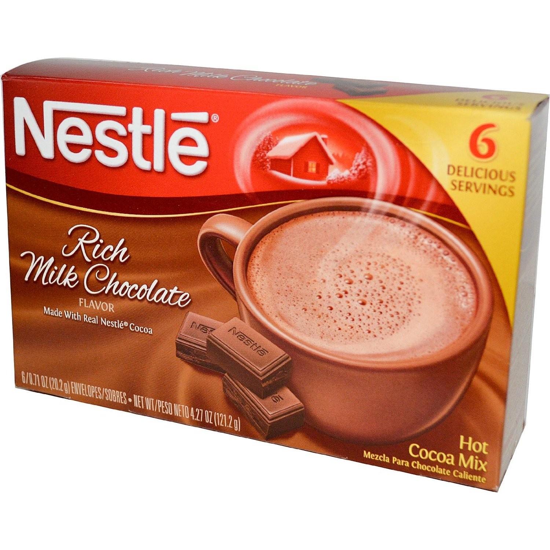 Nestle, Rich Milk Chocolate Hot Cocoa Mix, 6 Serving, 6 oz Box ...