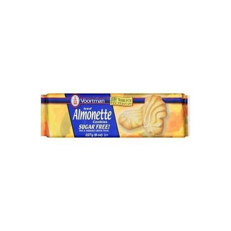Voortman Iced Almonette Sugar-Free Cookies, 8 oz