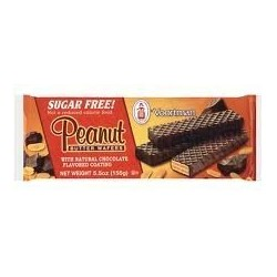 Voortman, Sugar Free, Chocolate Covered Peanut Butter Wafer Cookies, 5.5oz Bag
