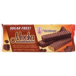 Voortman, Sugar Free, Mocha Cappuccino Wafer Cookies, 5.5 oz Bag