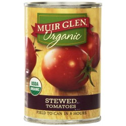 Muir Glen Organic Tomatoes, Stewed, 14.5-Ounce Cans