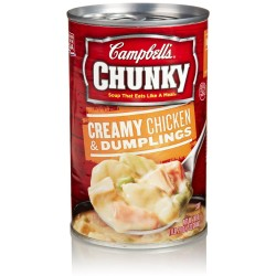 Campbell's Chunky Creamy Chicken & Dumplings Soup, 18.8 Ounce Cans