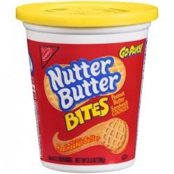 Nabisco Nutter Butter Bites Peanut Butter Sandwich Cookies - Go-Paks!  3.5 Oz