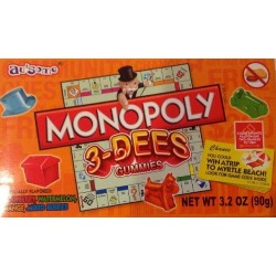 Monopoly 3-Dees Gummies 3.2  OZ (Theater Boxes)