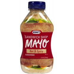 Kraft, Sandwich Shop Mayo, Hot n Spicy Mayonaise, 12oz Squeeze Bottle
