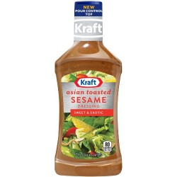 Kraft Asian Toasted Sesame Dressing & Marinade, 16-Ounce Plastic Bottles