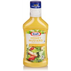Kraft Salad Dressing, Honey Mustard, 16-Ounce Bottles