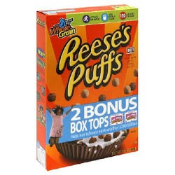 Reese's Peanut Butter Puffs Cereal, 13-Ounce Boxe