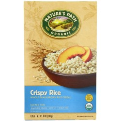 Nature's Path Organic whole grain brown Crispy rice Gluten free, 10-Ounce Boxes