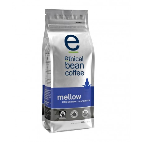 Ethical Bean Coffee Company Mellow - Medium Roast, Whole Bean, 12-Ounce Bag (Pack of 2)