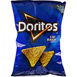 Frito Lay, Doritos® Brand, Cool Ranch Flavored Tortilla Chips, 11 Oz Bag
