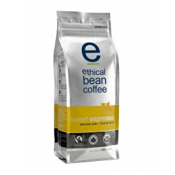 Ethical Bean Coffee Company Sweet Espresso Medium Dark Roast, 12-Ounce Bags (Pack of 2)
