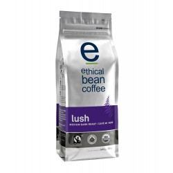 Ethical Bean Coffee Company Lush - Medium Dark Roast, Whole Bean, 12-Ounce Bags (Pack of 2)