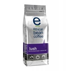 Ethical Bean Coffee Company Lush - Medium Dark Roast, Whole Bean, 12-Ounce Bags (Pack of 2)