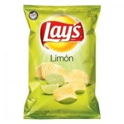 Bag Lays Limon Potato Chips ~ Crisp & Fresh ~ Lime