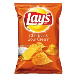 Lay's Potato Chips, Cheddar and Sour Cream, 9.5 Ounce
